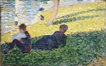 Georges Seurat. Etude pour Un dimanche après-midi à l'île de la Grande Jatte (1884)