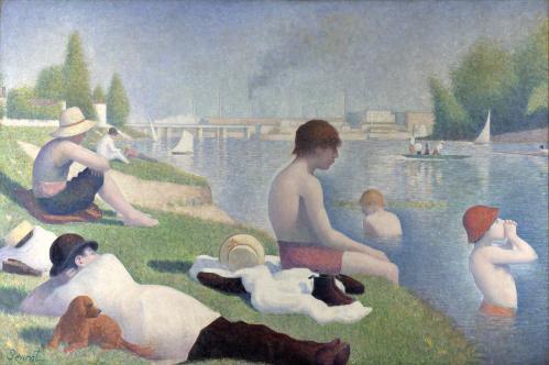 Georges Seurat. Une Baignade à Asnières (1884)