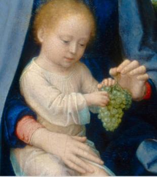 Gérard David. Le repos pendant la fuite en Egypte (1510), détail