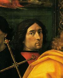 Ghirlandaio. Autoportrait extrait de L'adoration des mages (1488)