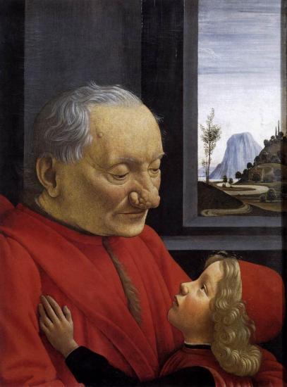 Ghirlandaio. Le vieil homme et son petit-fils (1490)