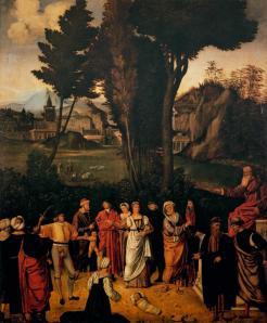 Giorgione. Le jugement de Salomon (v. 1505)