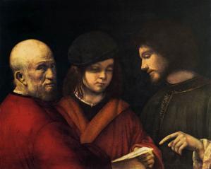Giorgione. Les trois âges (1500)