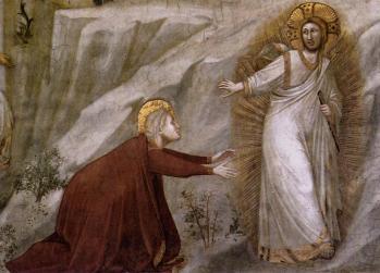 Giotto. Noli me tangere, détail (v. 1320)