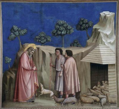 Giotto. Joachim parmi les bergers (1304-06)