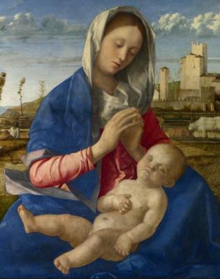 Giovanni Bellini. Madone des prés, détail