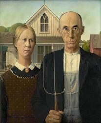 Grant Wood. American Gothic (1930)
