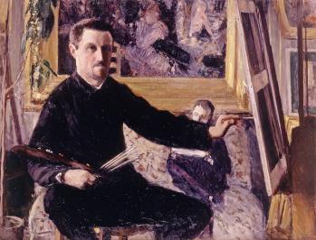 Gustave Caillebotte. Autoportrait au chevalet (v. 1879-80)