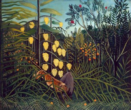 Henri Rousseau. Combat de tigre et de buffle (1908-09)