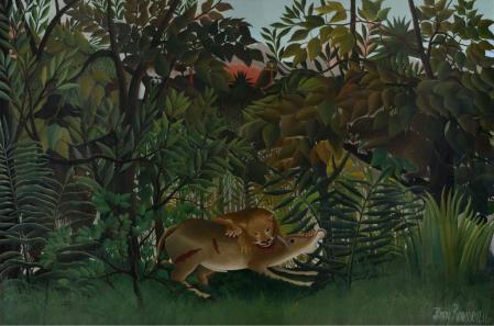 Henri Rousseau. Le lion, ayant faim, se jette sur l'antilope (1898-1905)