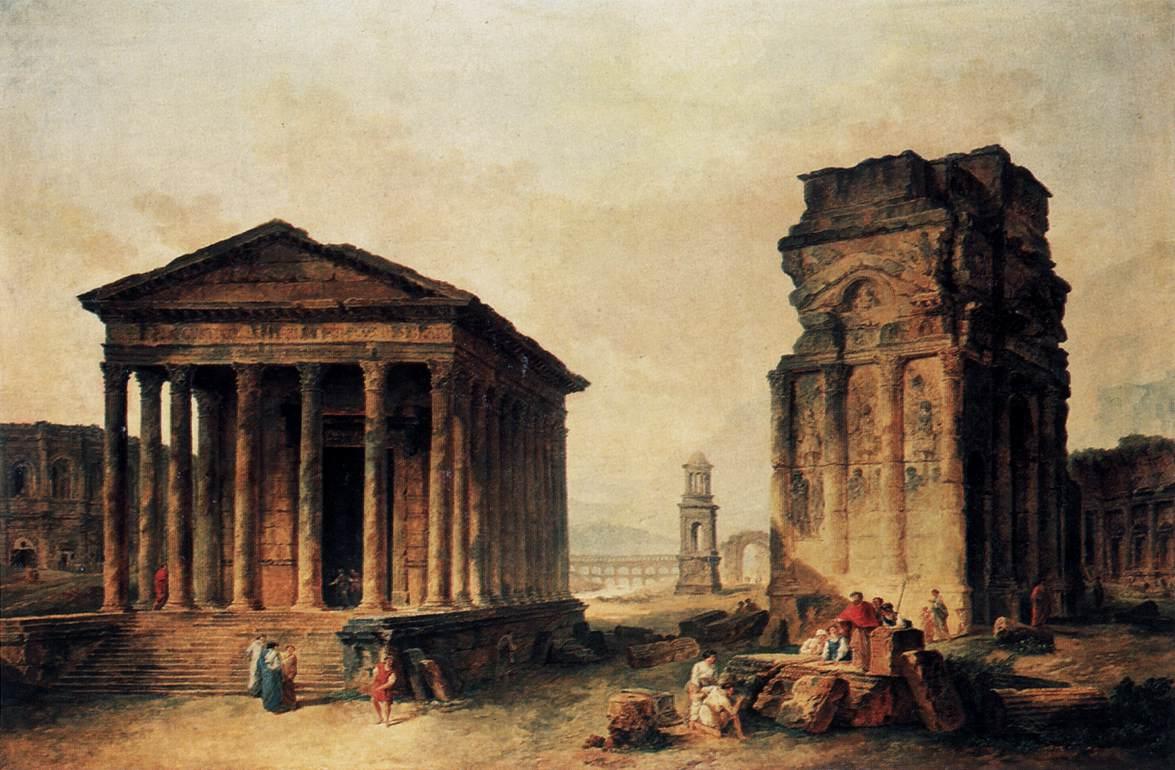 [inspi] Expositions / Musées / Salons... - Page 3 Hubert-robert.-ruines-de-nimes-1760-90-