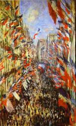 Monet. La rue Montorgueil, 1878