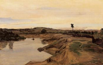 J-B. Corot. La promenade de Poussin, campagne de Rome (1825-28)