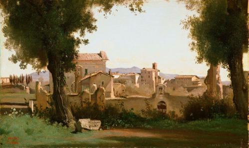 J-B. Corot. Vue depuis les jardins Farnèse, Rome (1826)