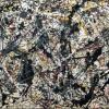 Jackson Pollock. Argent sur noir, blanc, jaune et rouge (1948)