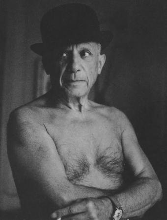 Jacques-Henri-Lartigue. Pablo Picasso, Cannes (1955)