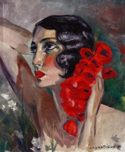 Jacques Henri Lartigue. Portrait de Renée Perle (1931)