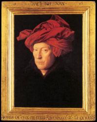 Jan Van Eyck. L'homme au turban rouge, autoportrait présumé (1433)