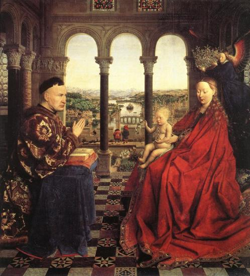 Jan Van Eyck. La Vierge du Chancelier Rolin (1435)