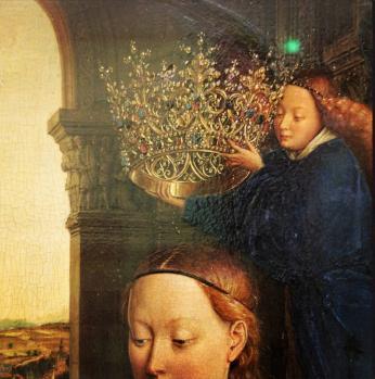 Jan Van Eyck. La Vierge du Chancelier Rolin, détail(1435)