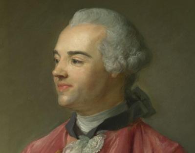 Jean-Baptiste Perronneau. Jacques Cazotte, détail
