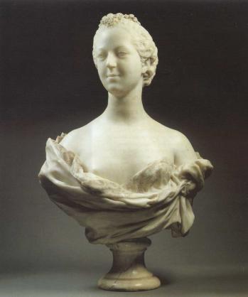 Jean-Baptiste Pigalle. Madame de Pompadour (1751)
