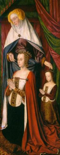 Jean Hey. Triptyque de Moulins, aile droite (1500-01)