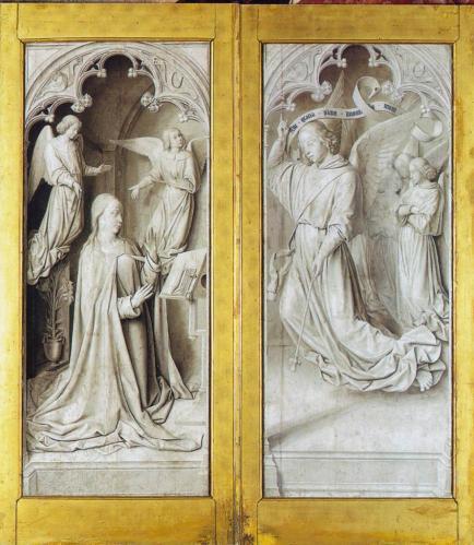 Jean Hey. Triptyque de Moulins, fermé (1500-01)