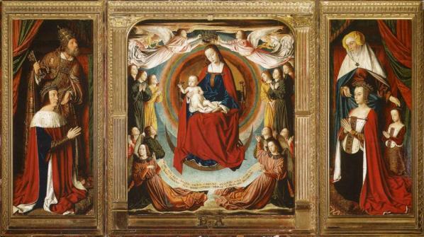 Jean Hey. Triptyque de Moulins, ouvert (1500-01)