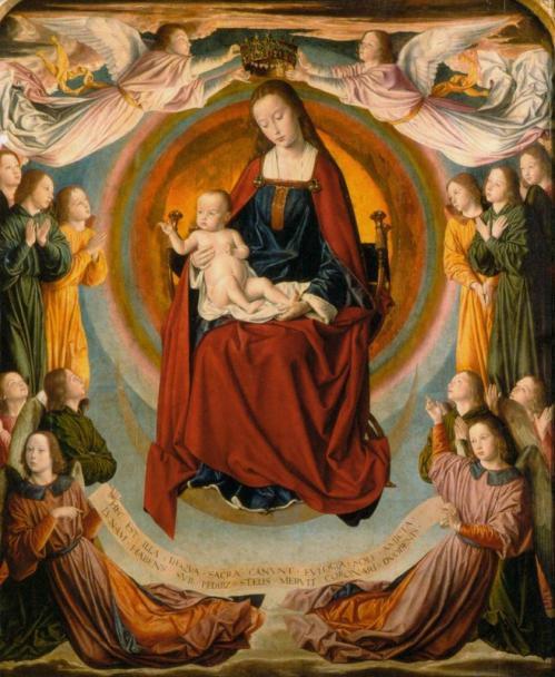 Jean Hey. Triptyque de Moulins, panneau central (1500-01)