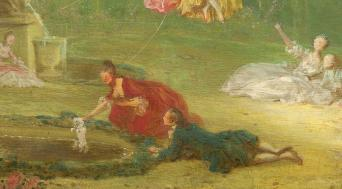Jean-Honoré Fragonard. La balançoire, détail