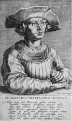 Johannes Wierix. Portrait de Bernard van Orley