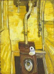 John Bratby. Les toilettes (1955)