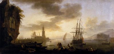 Joseph Vernet. Paysage marin, le calme (1735-40)