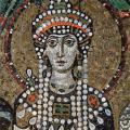 L'impératrice Théodora et sa suite, détail (6e s.)