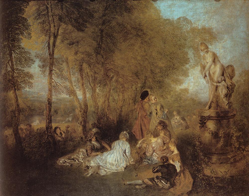 tableau de peinture jardin d'amour