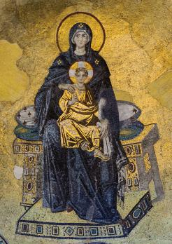 La Vierge et l'Enfant ou Théotokos (9e siècle)
