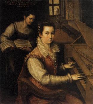 Lavinia Fontana. Autoportrait au clavecin (1577)