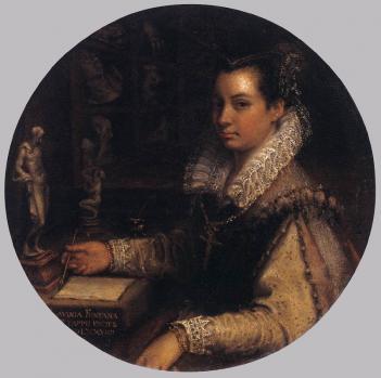 Lavinia Fontana. Autoportrait dans l'atelier (1579)