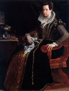 Lavinia Fontana. Portrait de Constanza Alidosi (1594)