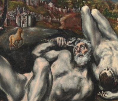 Le Greco. Le Laocoon, détail 1 (v. 1610)