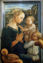 Lippi. Vierge à l'enfant et deux anges (1465)