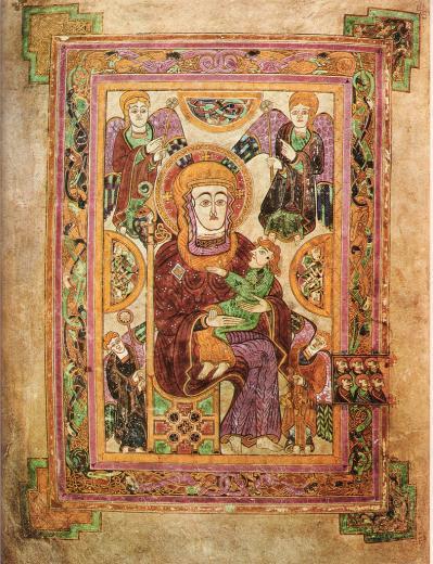 Livre de Kells, folio 7v (v. 820)
