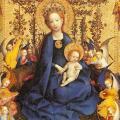 Stephan Lochner. La Vierge au buisson de roses (1448)
