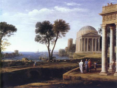 Lorrain. Paysage avec Enée à Délos (1672)