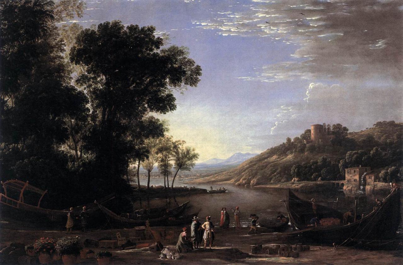 Biographie et uvre de claude lorrain for Le paysage