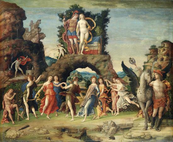 Mantegna. Le Parnasse (1496-97)