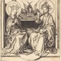 Martin Schongauer. Le Christ bénissant la Vierge (v. 1480-90)