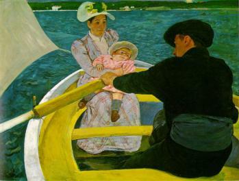 Mary Cassatt. La promenade en barque (1893-94)