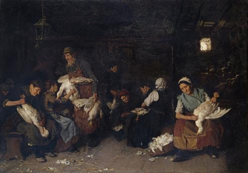 Max Liebermann. Les plumeuses d'oies (1871-72)